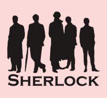 Sherlock Silhouettes  One Piece - Long Sleeve