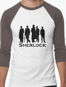 Sherlock Silhouettes  Men's Baseball ¾ T-Shirt