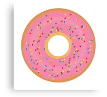 Delicious donut Canvas Print