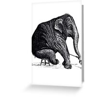 Elephant Solo Performance Greeting Card