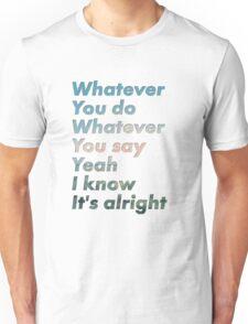 Oasis - Whatever Lyric Design Unisex T-Shirt