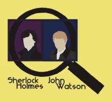 Sherlock Holmes and John Watson Kids Tee