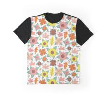 Vintage Autumn Florals Graphic T-Shirt