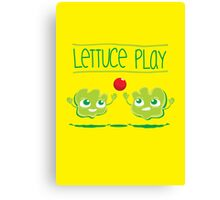 Lettuce Play Canvas Print