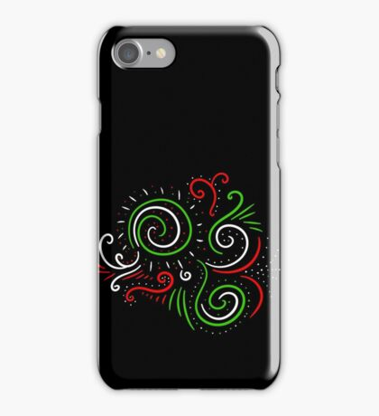 Holiday Swirl : Christmas Winter Abstract Design iPhone Case/Skin