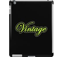 Vintage green black iPad Case/Skin