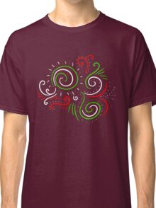Holiday Swirl : Christmas Winter Abstract Design Classic T-Shirt