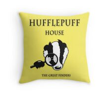 Hufflepuff House - The Great Finders Throw Pillow