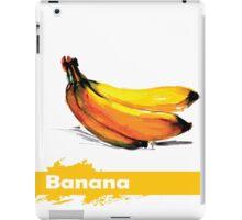 fruit banana. watercolor hand drawing. iPad Case/Skin