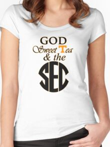 Tennessee: God, Sweet Tea & the SEC Women's Fitted Scoop T-Shirt
