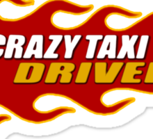 Crazy Taxi Driver Sticker