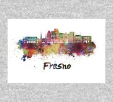 Fresno V2 skyline in watercolor One Piece - Long Sleeve