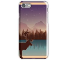 Deer and a Secluded Forest Night iPhone Case/Skin