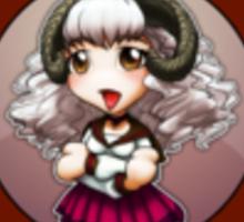 Chibi Schoolgirl Zodiac - Aries Sticker