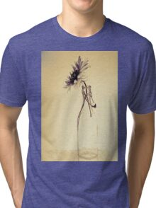 Colorful gentle drawing of flower in a glass bottle Tri-blend T-Shirt