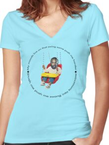 Death Grips Swing Women's Fitted V-Neck T-Shirt