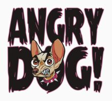 Angry Dog - Funny and Cute Cartoon Chihuahua T Shirt by wordsonashirt