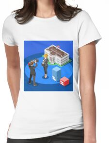 Election News White House USA Infographic Womens Fitted T-Shirt