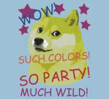 Doge Meme Shibe WOW! SO PARTY!  by wordsonashirt