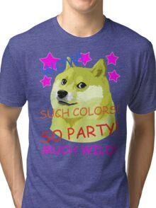 Doge Meme Shibe WOW! SO PARTY!  Tri-blend T-Shirt