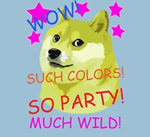 Doge Meme Shibe WOW! SO PARTY!  Unisex T-Shirt