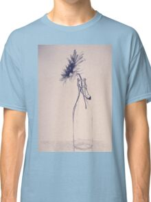 Colorful gentle drawing of flower in a glass bottle Classic T-Shirt