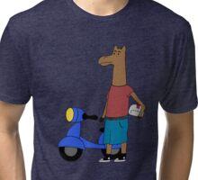 Drama Llama; Moped Tri-blend T-Shirt
