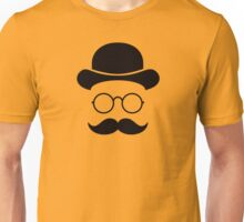 Retro /Minimal vintage face with Moustache & Glasses Unisex T-Shirt