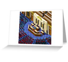 Election Infographic Parliament Hall Greeting Card