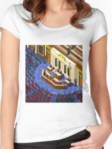 Election Infographic Parliament Hall Women's Fitted Scoop T-Shirt