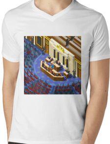 Election Infographic Parliament Hall Mens V-Neck T-Shirt