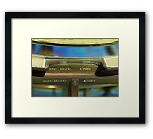 A fresnel From Paris Framed Print