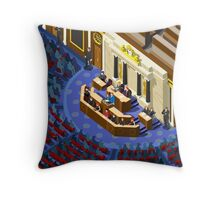 Election Infographic Parliament Hall Throw Pillow