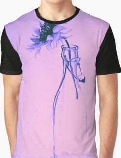 Colorful gentle drawing of flower in a glass bottle Graphic T-Shirt