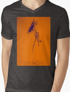 Colorful gentle drawing of flower in a glass bottle Mens V-Neck T-Shirt