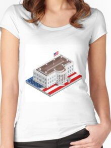 Election Infographic USA White House Women's Fitted Scoop T-Shirt