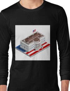 Election Infographic USA White House Long Sleeve T-Shirt
