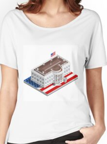Election Infographic USA White House Women's Relaxed Fit T-Shirt