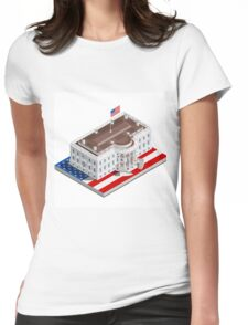 Election Infographic USA White House Womens Fitted T-Shirt