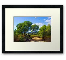The Lying Pine-Tree Alley Framed Print