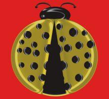 Yellow Ladybug Children T-shirt One Piece - Long Sleeve