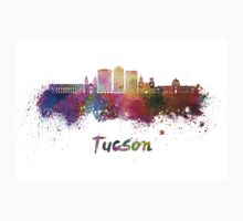 Tucson V2 skyline in watercolor One Piece - Long Sleeve