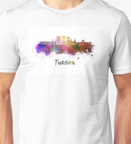 Tucson V2 skyline in watercolor Unisex T-Shirt