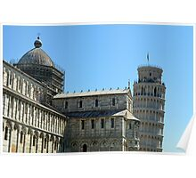 8 August 2016 Classical monuments from the world famous Piazza dei Miracoli in Pisa, Italy. Poster