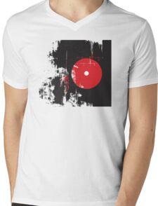 Faded Vinyl Mens V-Neck T-Shirt