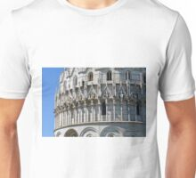 8 August 2016 Classical monuments from the world famous Piazza dei Miracoli in Pisa, Italy. Unisex T-Shirt