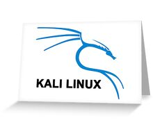 Kali Linux Stickers Greeting Card