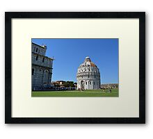 8 August 2016 Classical monuments from the world famous Piazza dei Miracoli in Pisa, Italy. Framed Print