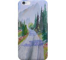 Biking The Mountains iPhone Case/Skin