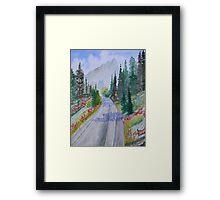 Biking The Mountains Framed Print